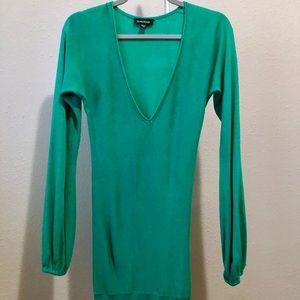 Bebe Turquoise Long Sleeve V-Neck Tunic!!!